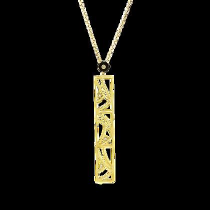 Coïncidence Pendentif en or 18k serti d'onyx et diamants