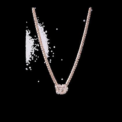 Empreinte Collier Petit modèle en or 18k serti de diamants