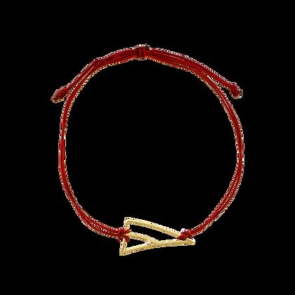Coïncidence Bracelet cordon Lucky Charm en or 18k serti d'un diamant