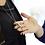 """Thumbnail: Empreinte Pendentif """"Diamant jaune et perle"""" en or 18k serti d'un diamant jaune"""