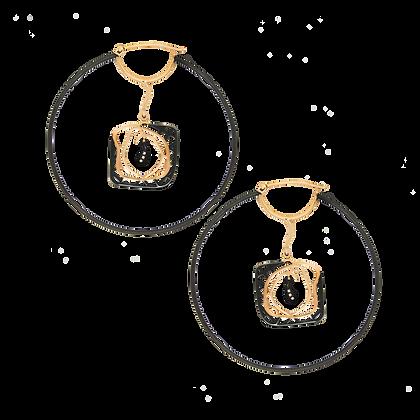 Labyrinthe de l'âme Boucles d'oreilles / Créoles en or 18k serties de diamants