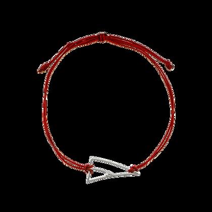 Coïncidence Bracelet cordon Lucky Charm serti d'un diamant