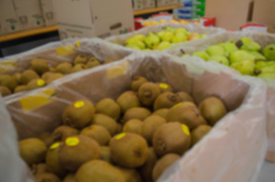 Kiwi Fruit and Pears in boxes