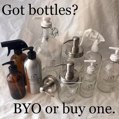 Glass and Aluminum Bottles