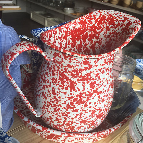 Enamelware Pitchers - Prices Vary
