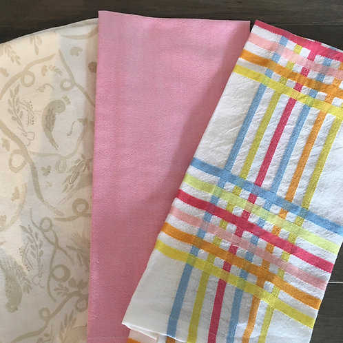 Vintage Tablecloths Tea Towel