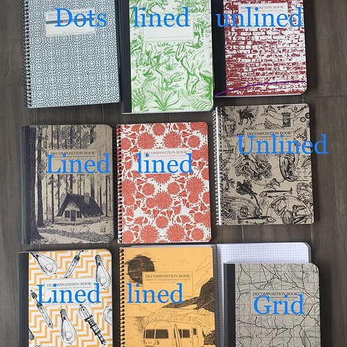 Decomposition Notebooks and Mini Notebooks