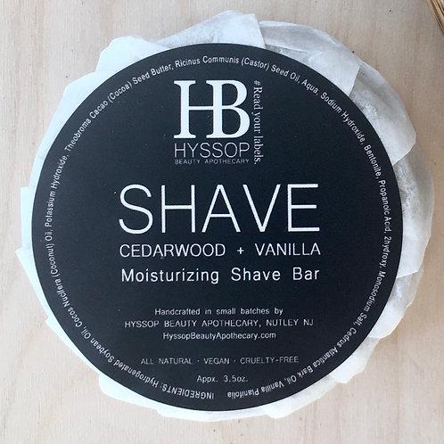Hyssop Beauty Shave Soap - Cedarwood & Vanilla