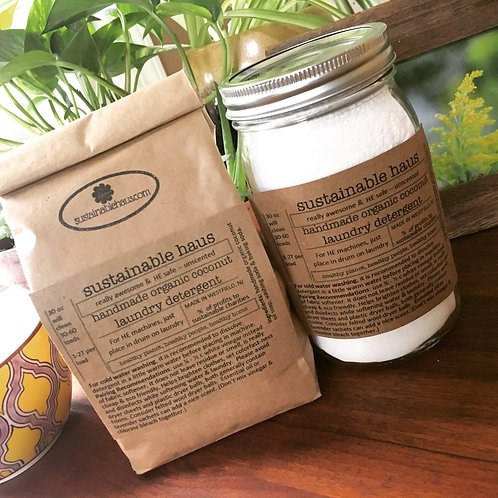 Laundry Detergent Bag (handmade organic coconut oil soap)