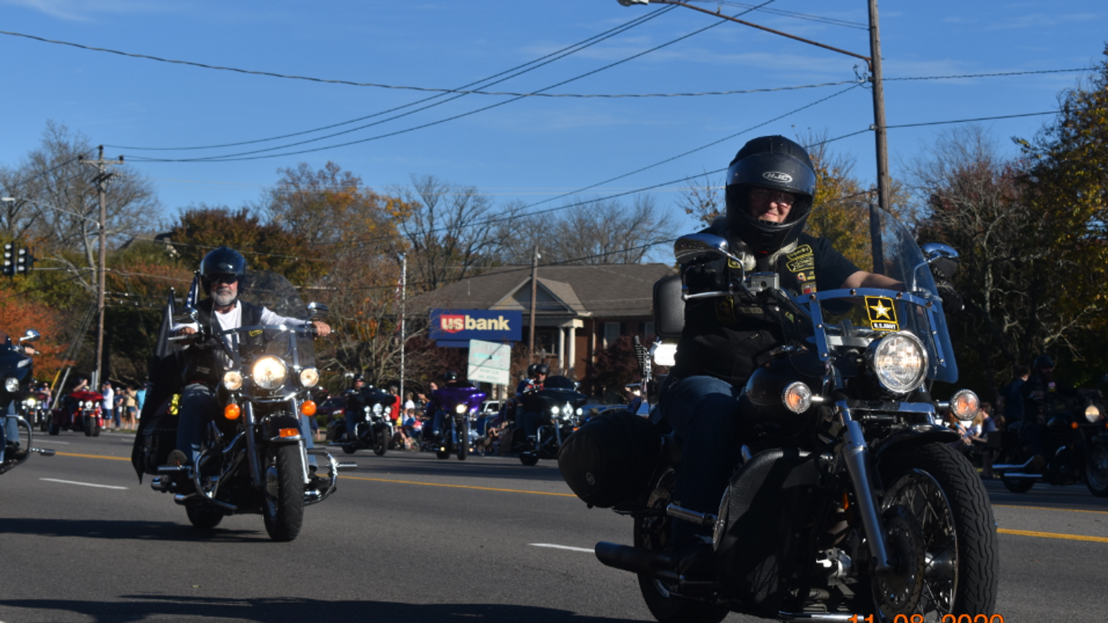 2020 Hendersonville Veterans Day Parade led by CVMA TN 18-1