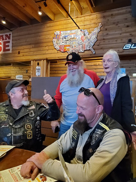 Original CVMA TN 18 Member Crypto with his wife, (current TN 18-10 Commander), the TN 18-1 Commander and the SAA.