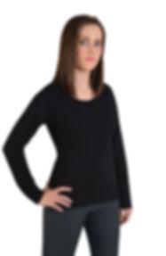 150G Fashion T Shirts Ladies Long Sleeve
