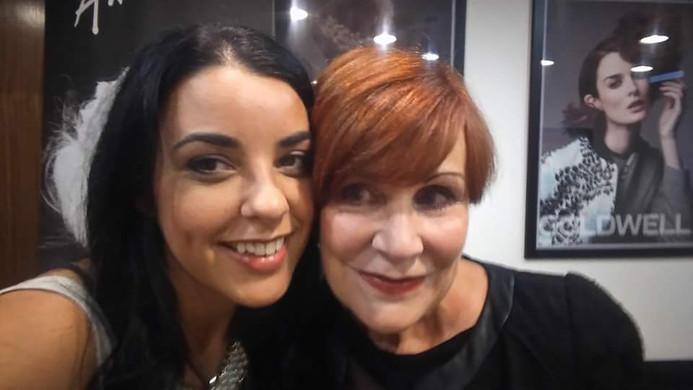 With Sharon Blain
