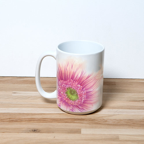 Pink Daisy 15oz Mug and Coaster