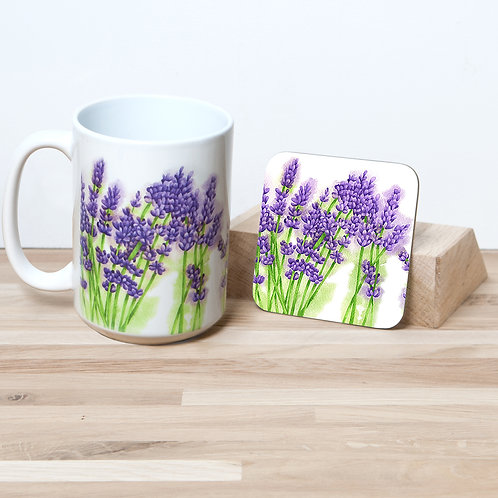 Lavender 15oz Mug and Coaster