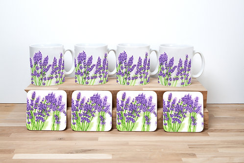 Lavender Mug and Coaster Set