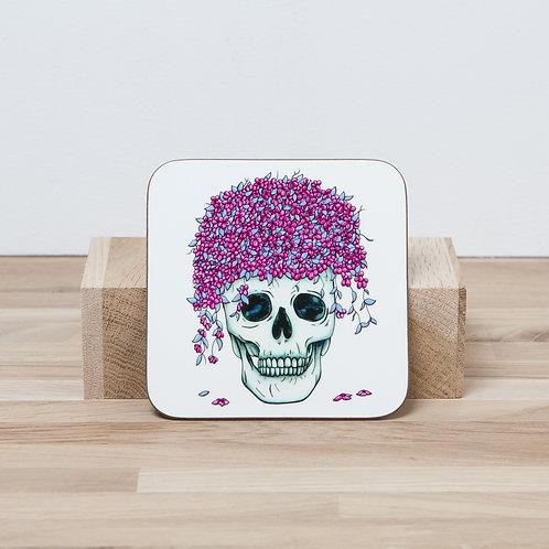 Pink Flower Pot Coaster