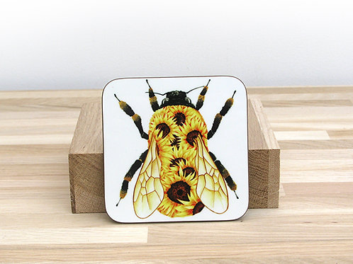 Sunflower Bumblebee Coaster