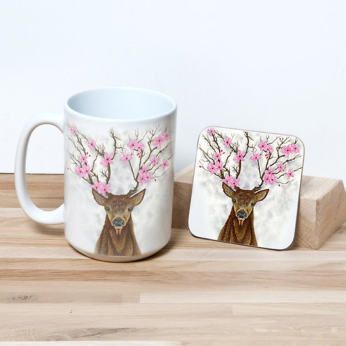 Wild Blossom 15oz Mug and Coaster