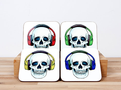 Headphones Coaster Set