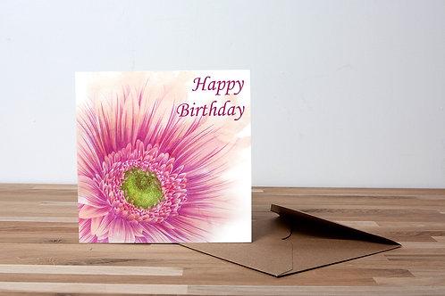 Pink Daisy Happy Birthday