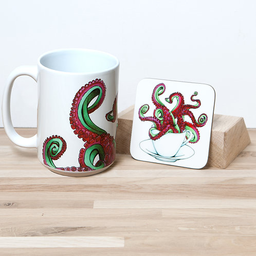 Octocup 15oz Mug and Coaster