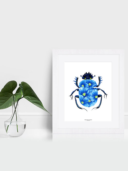 Blue Blossom Beetle - Original