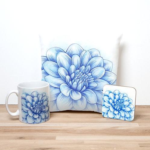 Blue Blossom Pillow Set