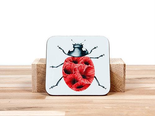 Poppy Ladybug Coaster