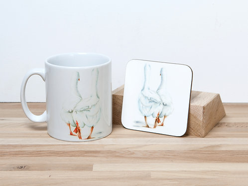 Chatter Box Mug and Coaster