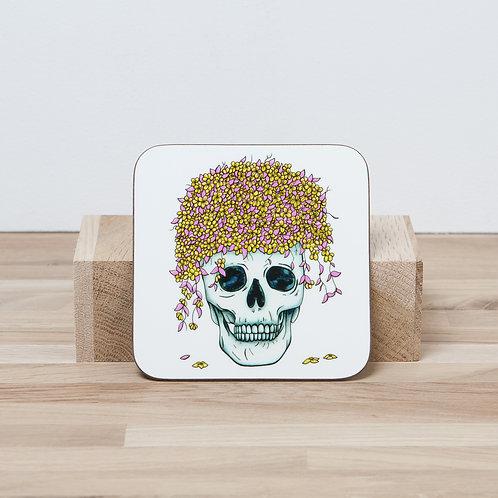 Yellow Flower Pot Coaster