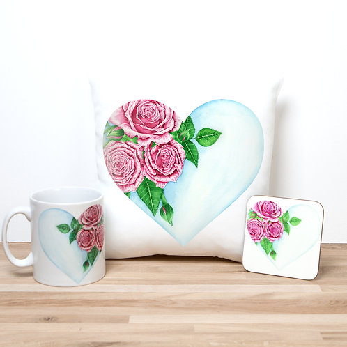Heart Of Roses Pillow Set