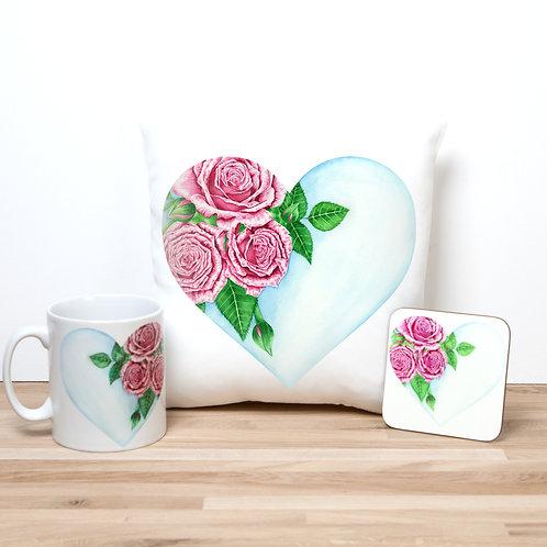 Heart Of Roses Pillow Set