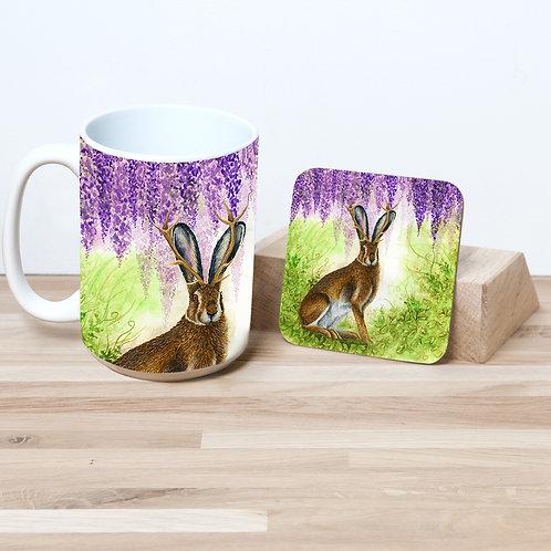 Jackalope 15oz Mug and Coaster