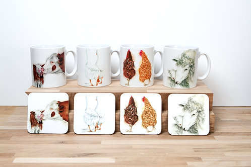 Farm Life Mug and Coaster Set