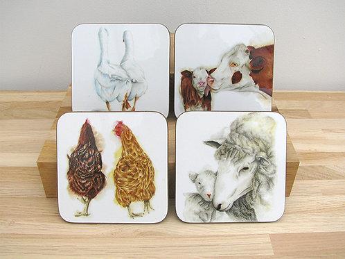 Farm Life Coaster Set