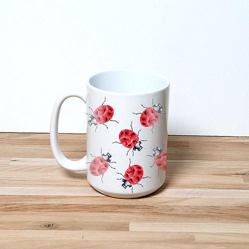 Poppy Ladybug 15oz Mug and Coaster