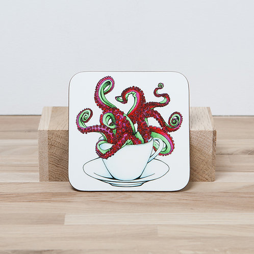 Red Octocup Coaster