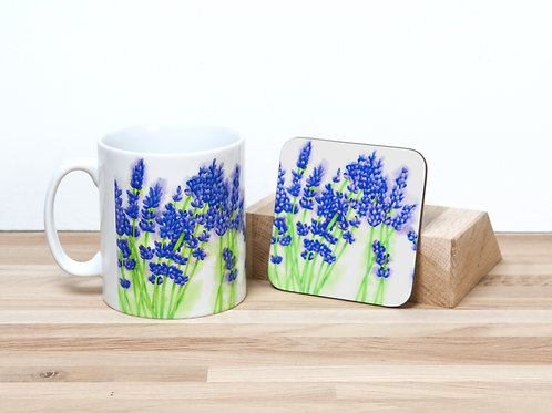 Lavender Mug and Coaster
