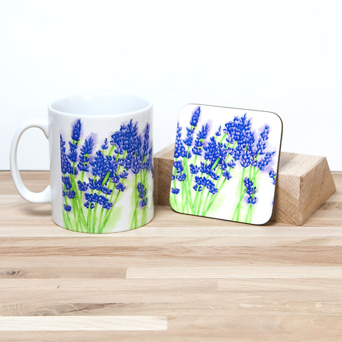 Lavender Mug and Coaster Set
