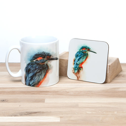 Kingfisher Mug and Coaster