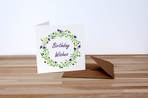 Purple Wreath Birthday Wishes