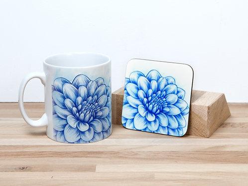 Blue Blossom Mug and Coaster