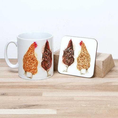 Girl Talk Mug and Coaster Set