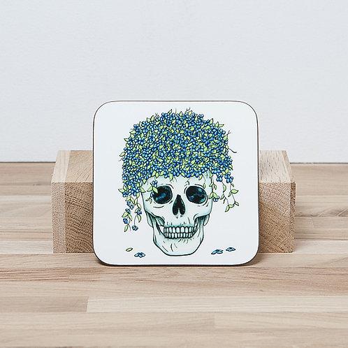 Blue Flower Pot Coaster