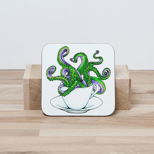 Green Octocup Coaster