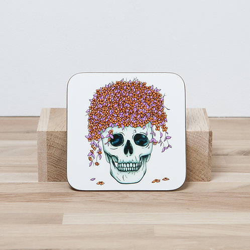 Orange Flower Pot Coaster