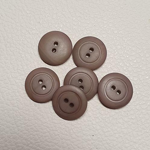 10-delige set bruine knopen - Doorsnede 17mm