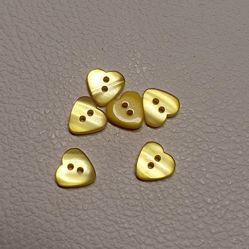 10-delige set gele knopen - Doorsnede 11mm