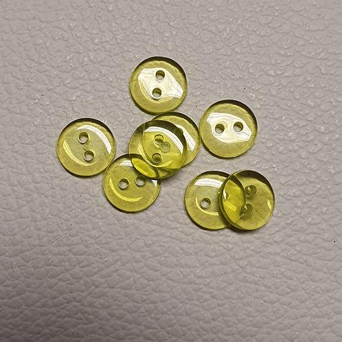 10-delige set gele knopen - Doorsnede 12mm